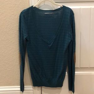 Rubbish Nordstrom V Neck Sweater w Elbow Patch